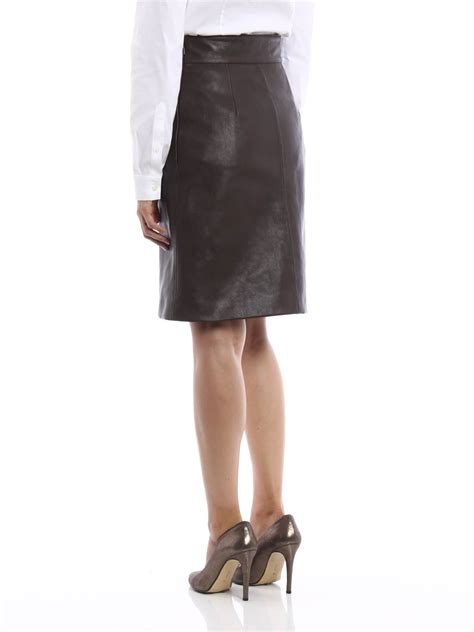 Guci Leather leather skirt by gucci leather skirts shop at