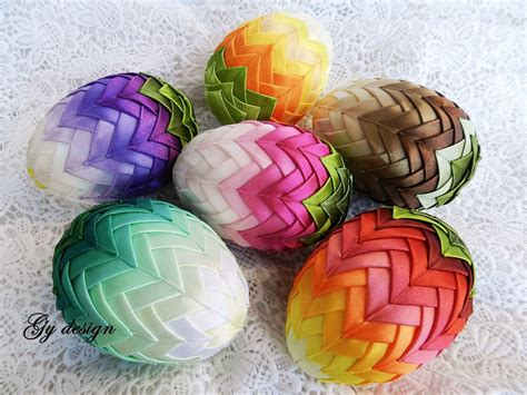 decorating easter eggs ombre easter egg decoration quilted ornaments ornament egg
