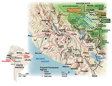 road map of peru peru s highway of dreams map national geographic magazine