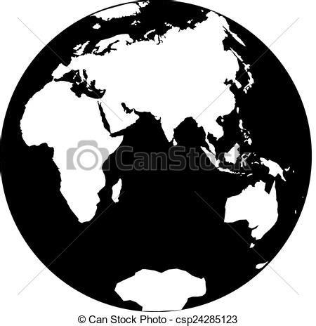 imagenes blanco y negro de la tierra ilustraciones de vectores de planeta tierra hermoso