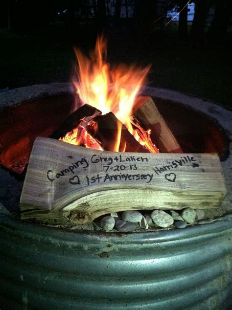 Cute 1st Anniversary idea while camping! Since this is
