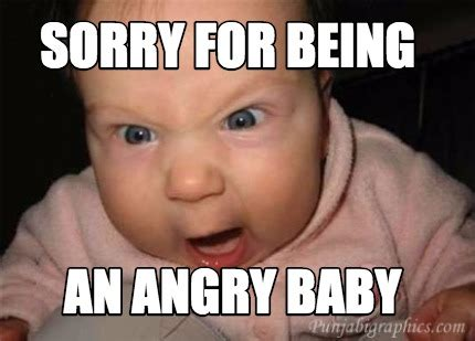 Memes About Being Sorry - meme creator sorry for being an angry baby meme