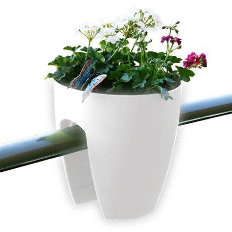 rail planter greenbo 11 4 in x 11 8 in x 11 4 in white plastic