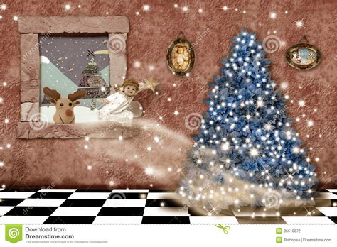 cheerful christmas home greeting card stock photography image