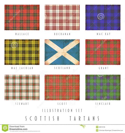 a time of and tartan 44 scotland series books scottish tartans in grunge design stock illustration