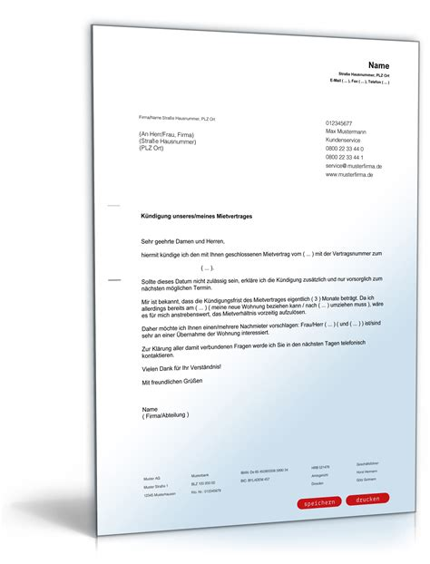 mietvertrag wohnung k 252 ndigung mietvertrag mieter nachmieterangebot