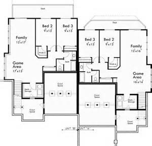 Duplex Floor Plans Free craftsman duplex house plans luxury duplex house plans