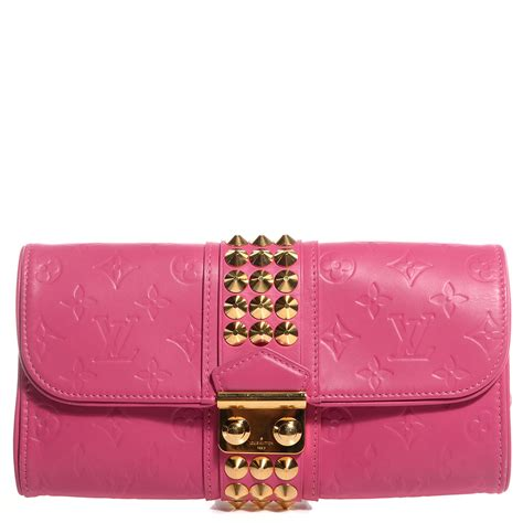Louis Vuitton Leather Embossed With Clutch 9311 louis vuitton embossed calf leather pochette clutch fuchsia 84746