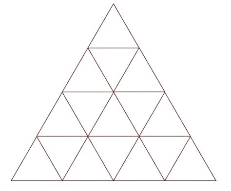 triangle pattern problem how many triangles 1