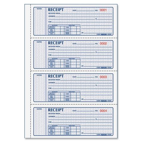 receipt book template new calendar template site
