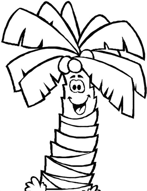 coloring page of a coconut tree coconut tree coloring page coloring home