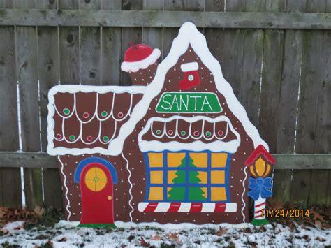 santa wood yard art santa s gingerbread house wood outdoor