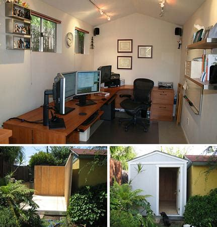 Building A Backyard Office by 8 Backyard Shed Turned Home Office Inspirations Diy Cozy