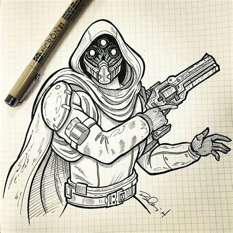 hunter from destiny by koboneart on deviantart