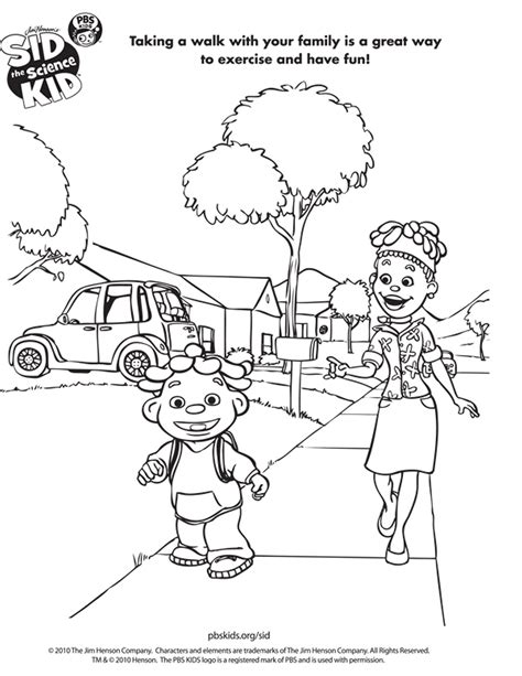 kid coloring sid the science kid coloring pages to and print