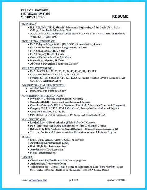 Airframe Mechanic Sle Resume by Awesome Convincing Design And Layout For Aircraft Mechanic Resume Http Snefci Org Convincing