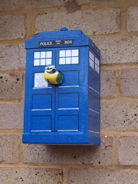 hand made bird box unique design tardis available online
