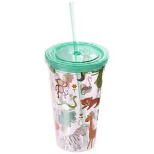 Wedding Gift Packing Funky Zoo Animals Double Wall Lidded Cup And Straw 12569 Puckator Dropship Uk