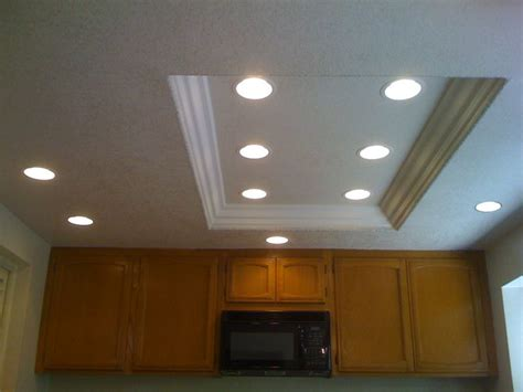 recessed lighting for kitchen ceiling good idea for replacing fluorescent light with recessed