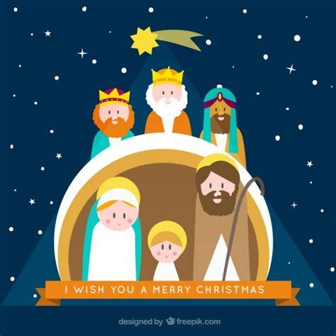 imagenes de navidad belen tarjeta de portal de bel 233 n descargar vectores gratis