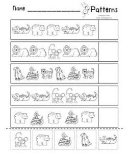 animal pattern worksheets for kindergarten 17 best images about zoo lesson plans preschool problem