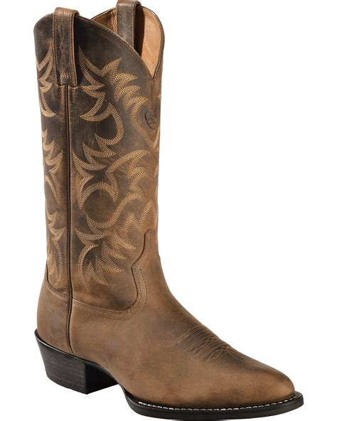ariat toe boots ariat heritage cowboy boots medium toe boot barn