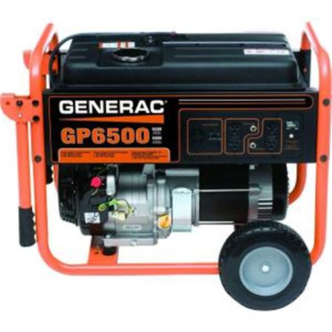 generac 6 500 watt gasoline powered portable generator