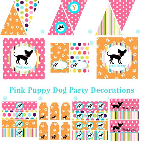 printable puppy birthday decorations dog party decorations dog birthday dog decorations dog baby