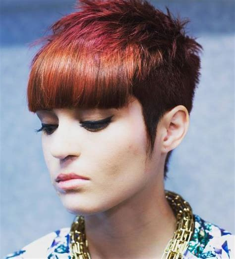 choppy pixie with long bangs top 40 hottest very short hairstyles for women