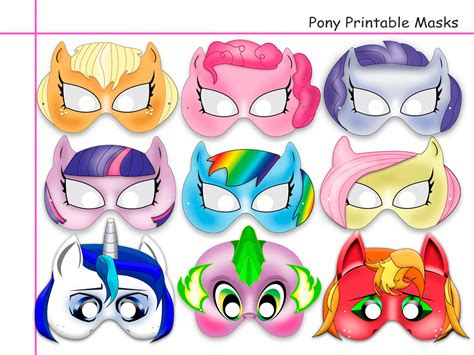 printable mask my little pony 9 best images of friendship magic pony printable masks