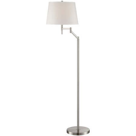 floor ls with extended arm lite source ls 82138 polished steel eveleen 1 light swing