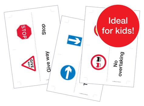 printable road sign flash cards uk fellowes idea centre ideas for home fun learning