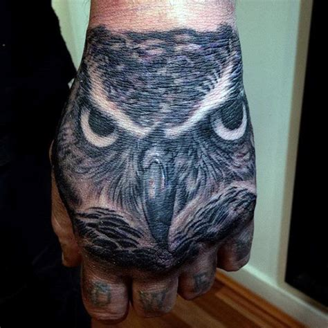 owl hand tattoo 70 owl tattoos for creature of the designs