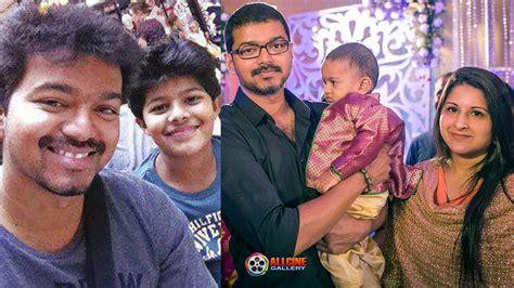 actor vijay biodata family actor vijay family photos with wife sangeetha son sanjay