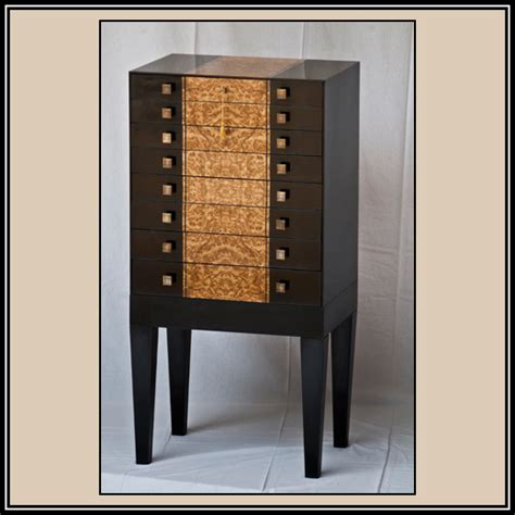 Jewelry Armoire Modern by Modern Italian Jewelry Armoire Heller And Heller Custom