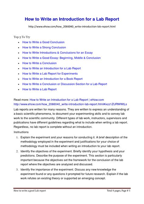 writing a lab report sle writing a report sle 28 images how to write a report
