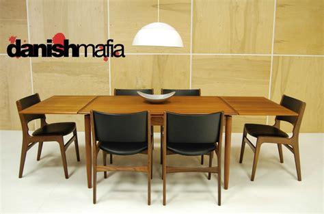 mid century dining set mid century modern teak dining complete set table 6 chairs eames era mafia
