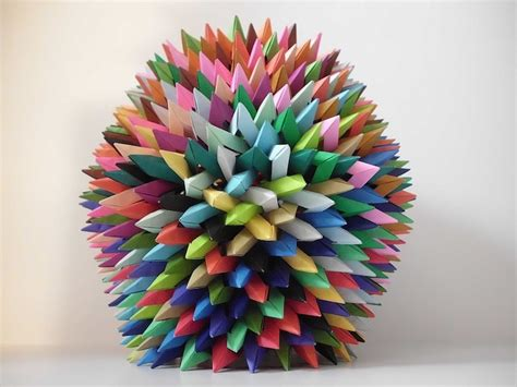 Origami Artwork - interlocking origami and prisms by byriah loper my