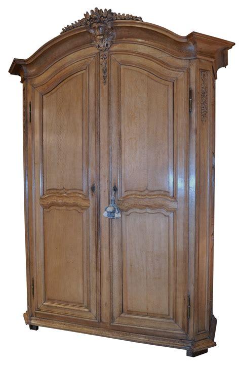 product details large oak armoire