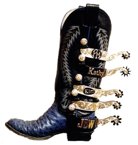 boot spurs 5 spurs on a boot principe silver