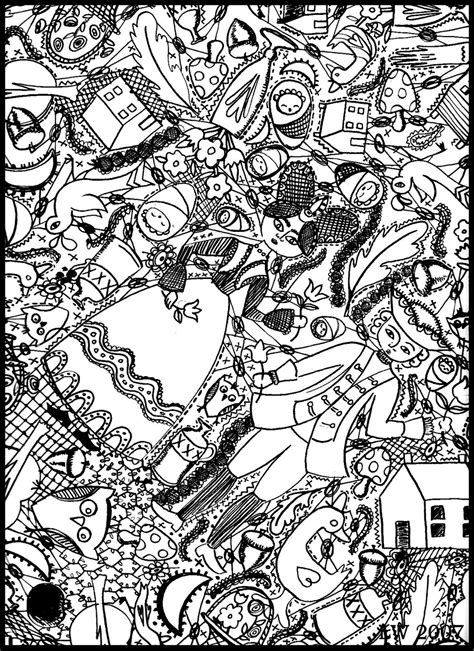 free coloring pages of doodle invasion