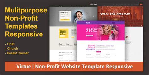 Virtue Non Profit Website Template Responsive Best Wp Themes Non Profit Websites Templates