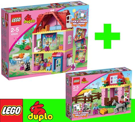 lego duplo haus 10505 lego duplo 10505 10500 set big house stable