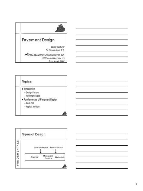pavement design engineer job description pavement design ii