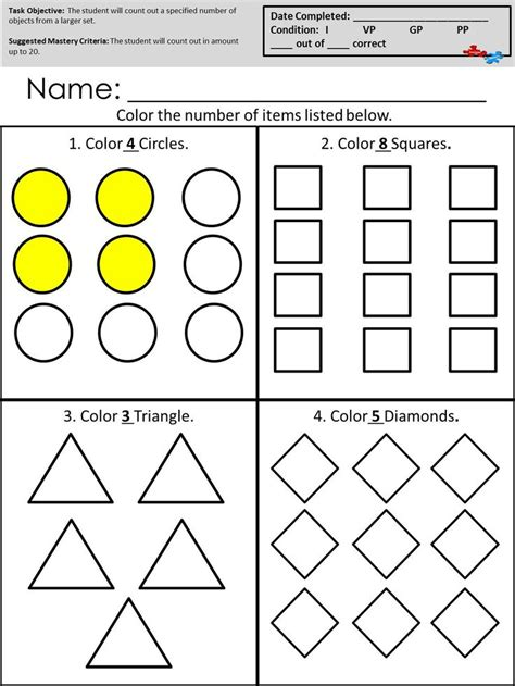 Autism Worksheets by 1000 Images About Autism Worksheets Math On