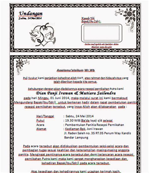Contoh Notula Rapat Pembentukan Panitia by Pembentukan Panitia Pernikahan Newhairstylesformen2014