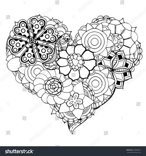doodle fit flower of flower doodle background vector