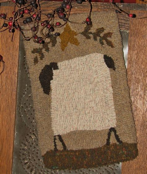 Hooked Rug Kits For Sale by Primitive Rug Hooking Kit On Monks Quot Prims Series Sheep Quot Ebay