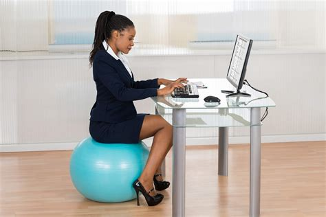 sitting on exercise ball at desk move it monday stability ball vs office chair swap or
