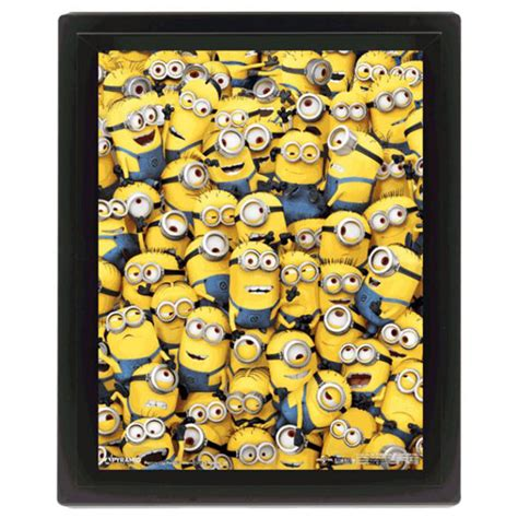 Special Edition Banner Minion 3d many minions limited edition framed picture minion shop
